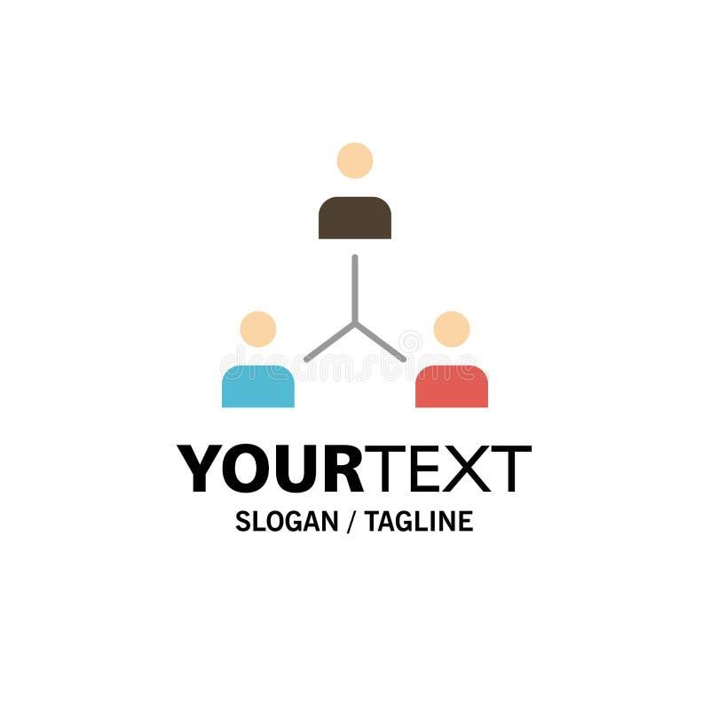 Structure, Company, Zusammenarbeit, Gruppe, Hierarchie, Leute, Team Business Logo Template flache Farbe lizenzfreie abbildung