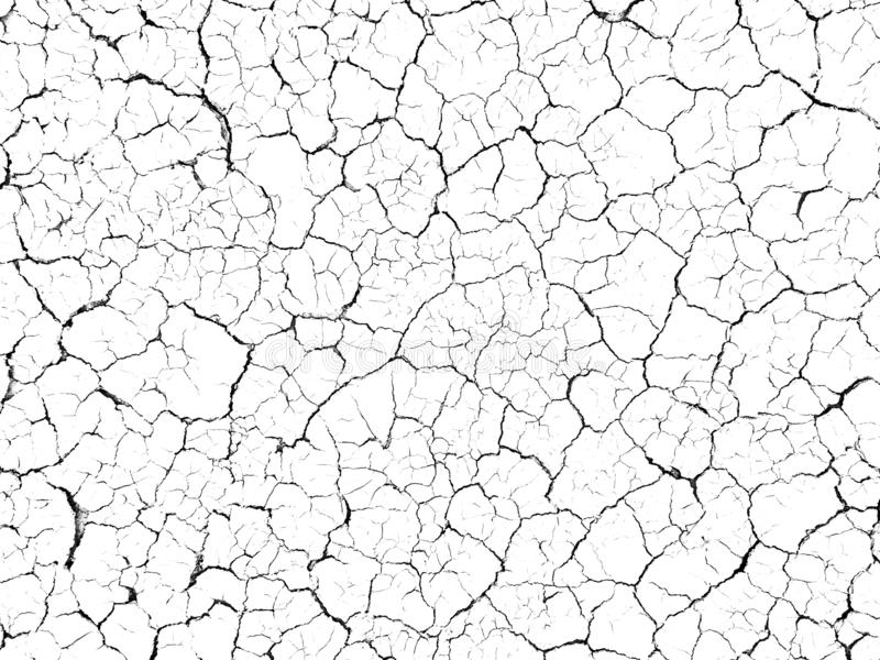 Structure cracked soil ground earth texture on white background, desert cracks,Dry surface Arid in drought land floor stock photography