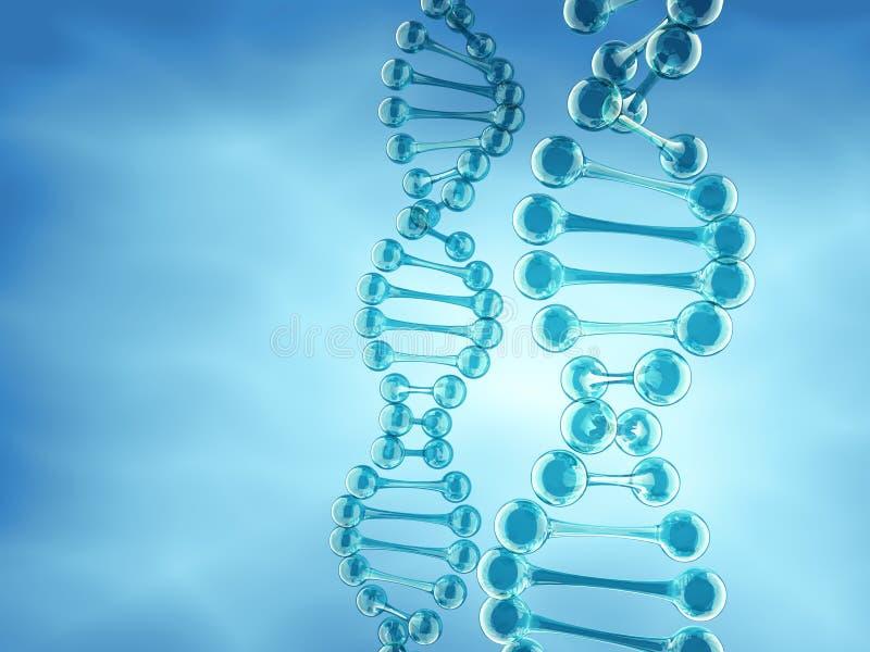 Structure d'ADN illustration stock