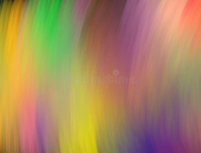 Structure d'arc-en-ciel des courses molles et enduites Fond multicolore lumineux Abstraction de fractale illustration libre de droits
