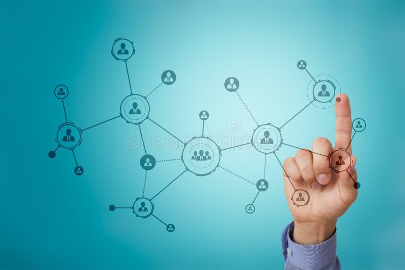 Structure d'organisation Réseau de social du ` s de personnes Concept d'affaires et de technologie photographie stock libre de droits