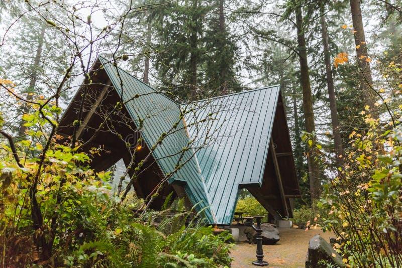 Structure d'Un-cadre en Forest Park photographie stock