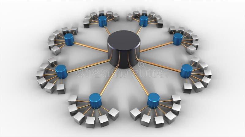 structure de base de données 3D illustration stock