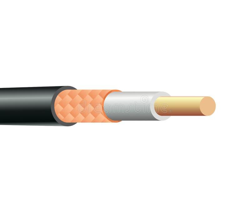 Structure de câble coaxial de liaison illustration stock