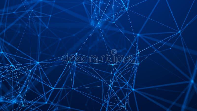 Structure de connexion r?seau Fond abstrait de technologie Fond futuriste rendu 3d illustration libre de droits