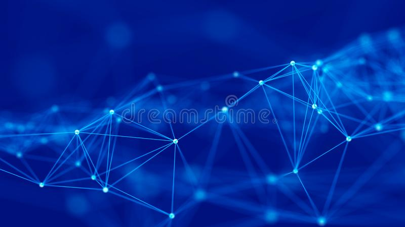 Structure de connexion r?seau Fond de la Science Fond num?rique de grandes donn?es rendu 3d illustration stock