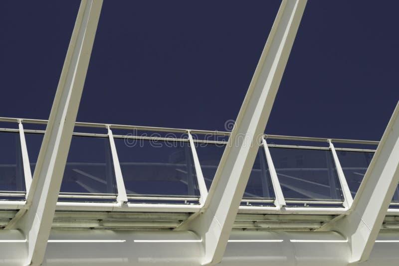Structure de fer et en verre image libre de droits