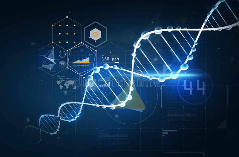 Structure de molécule d'ADN illustration libre de droits