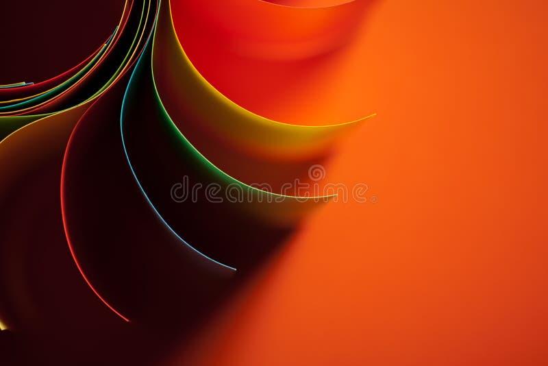 Structure de papier coloré formée comme soleil photos libres de droits