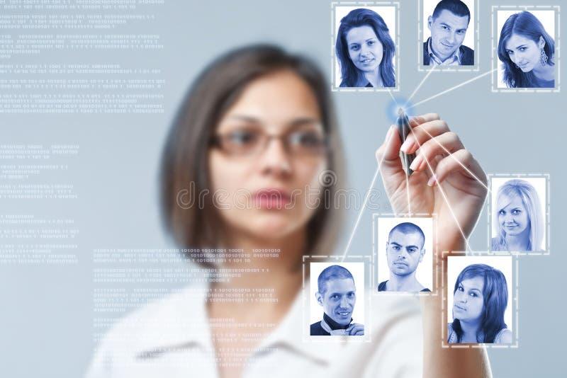 Structure de réseau sociale photos libres de droits