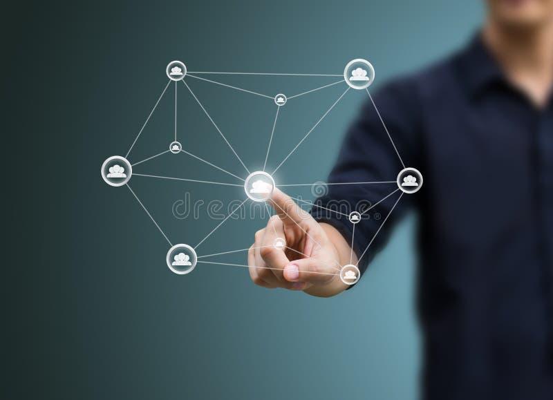 Structure de réseau sociale images libres de droits