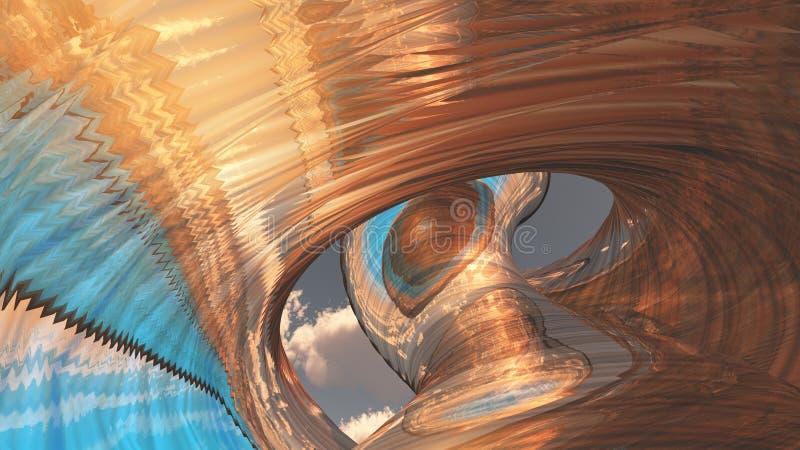 Structure de sculpture illustration libre de droits