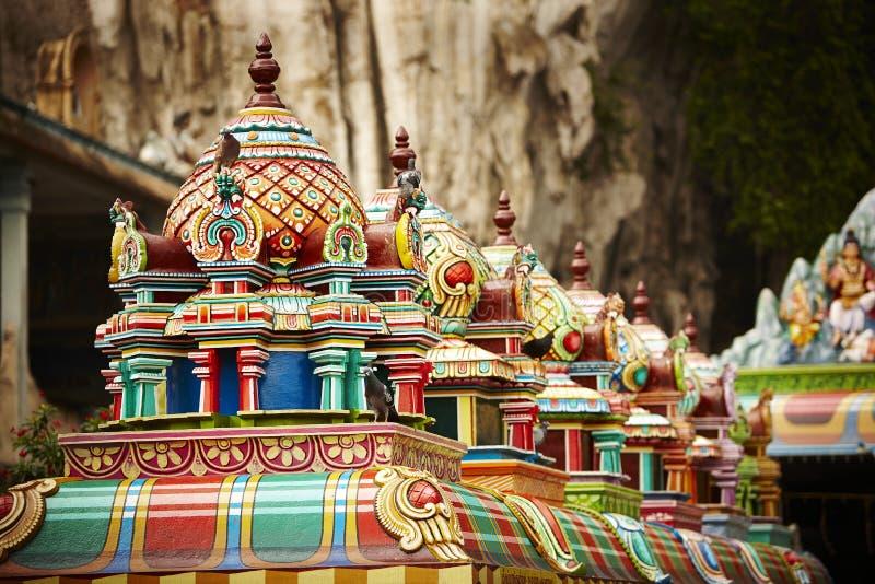 Structure de toit des cavernes de Batu, Malaisie photos stock