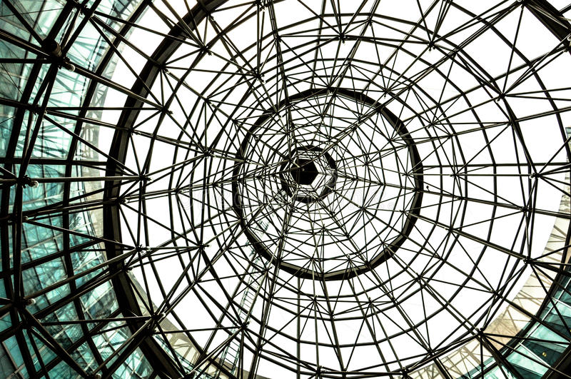 Structure of Dome Roof stock photos