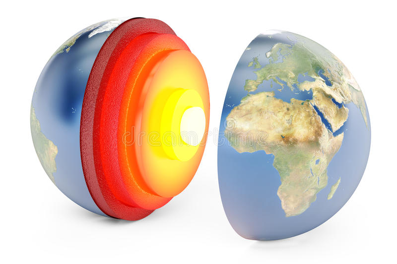 Structure of earth concept, 3D rendering vector illustration