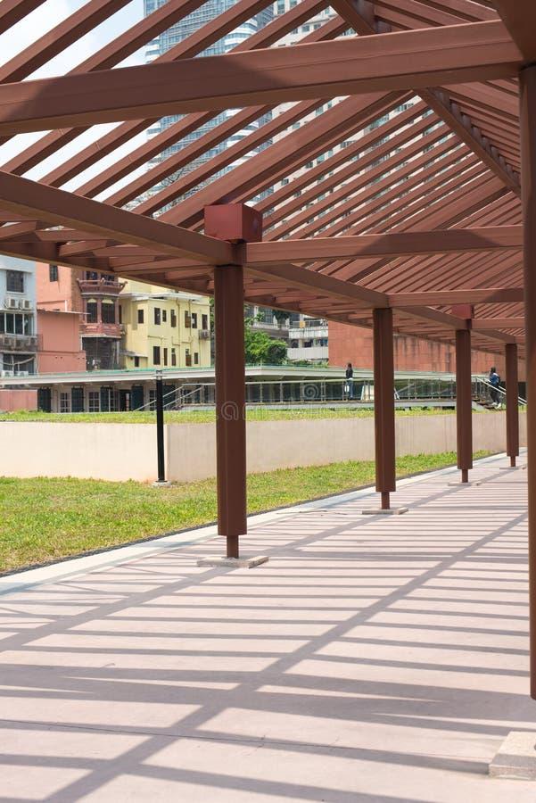 Structure en bois de couloir image libre de droits