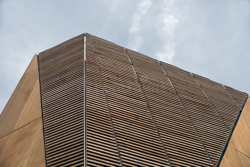 Structure en bois moderne images libres de droits