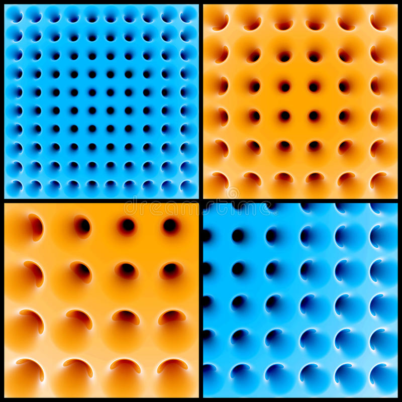 Structure en nid d'abeilles 3d abstraite illustration libre de droits