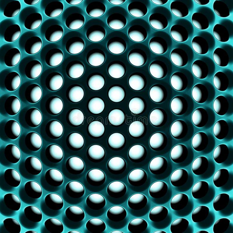 Structure en nid d'abeilles de pointe abstraite. 3d illustration de vecteur
