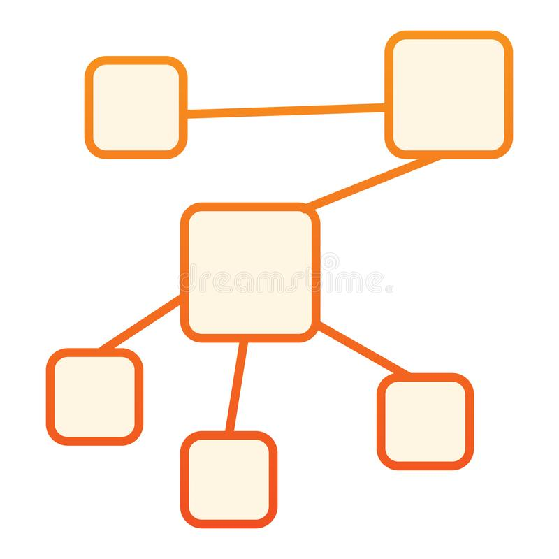 Structure flat icon. Network orange icons in trendy flat style. Chart gradient style design, designed for web and app. Eps 10 vector illustration