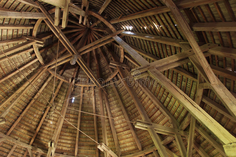 Structure of Fortress roof. Building Structure of Medieval European Fortress roof stock image