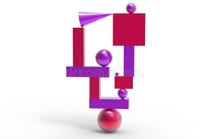 Structure géométrique abstraite en couleurs illustration libre de droits