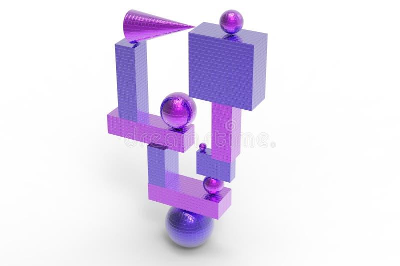 Structure géométrique abstraite en couleurs illustration stock