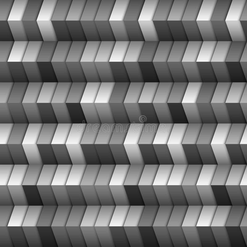 Structure géométrique monochromatique illustration stock