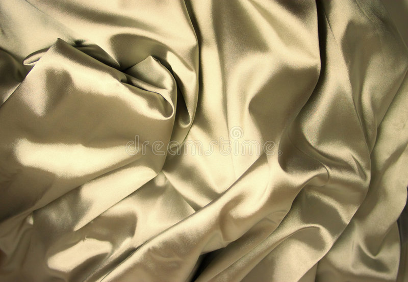 Structure of golden silk. Close up stock photography