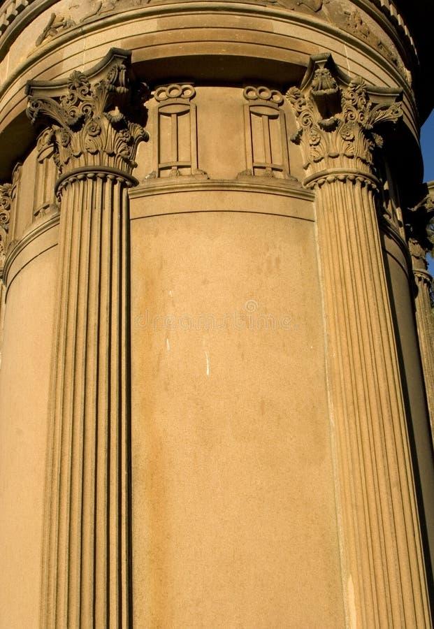 Structure gréco-romaine de pilier photos libres de droits