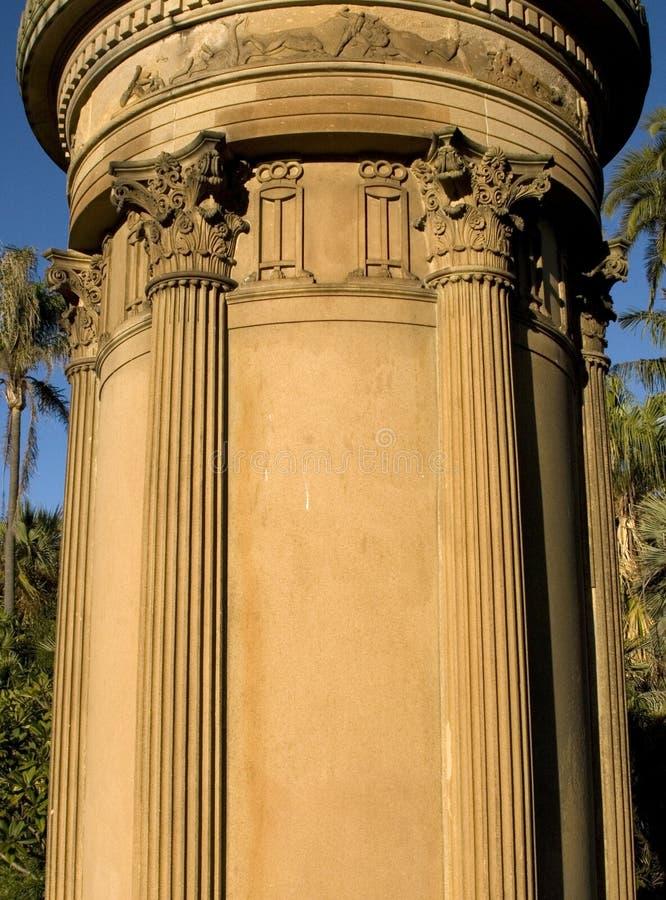 Structure gréco-romaine de pilier photo libre de droits