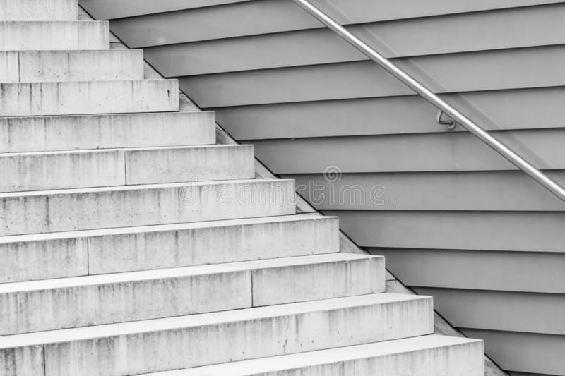 Structure of  grey concrete stairs royalty free stock images