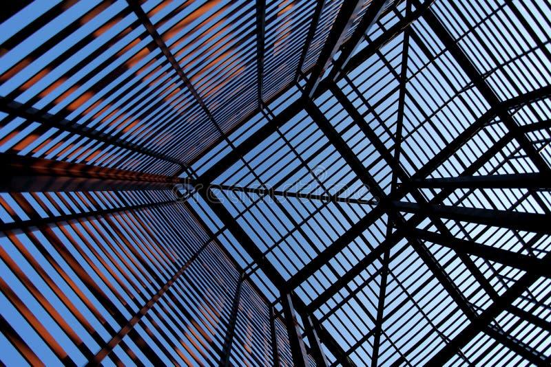 Structure industrielle intéressante 2 en métal image libre de droits