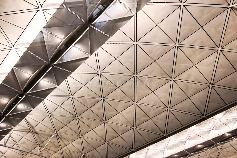 Structure intérieure d'architecture d'aéroport photos libres de droits
