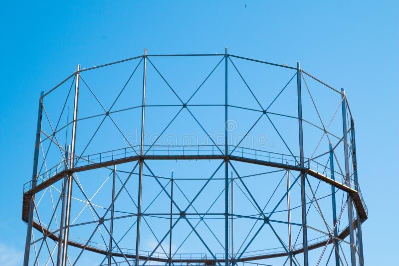Structure métal-gaz de stockage photographie stock libre de droits