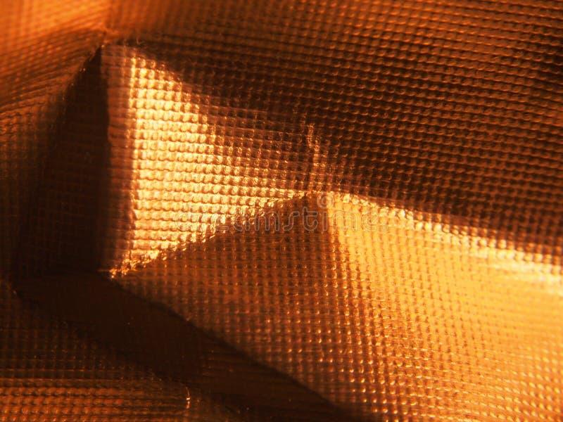 Structure métallique d'or La texture du clinquant photographie stock