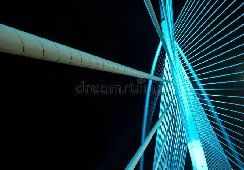 Structure métallique d'un pont photos stock