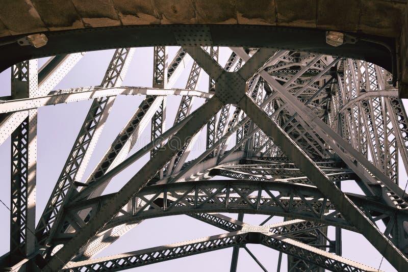 Structure métallique de passerelle image stock
