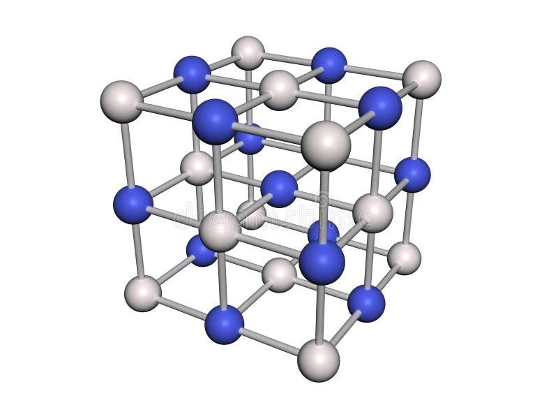 Structure moléculaire illustration de vecteur