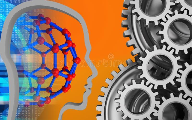 structure moléculaire 3d illustration libre de droits