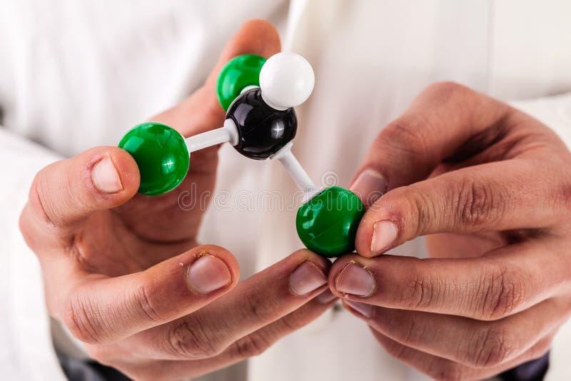 Structure moléculaire de chloroforme photo stock
