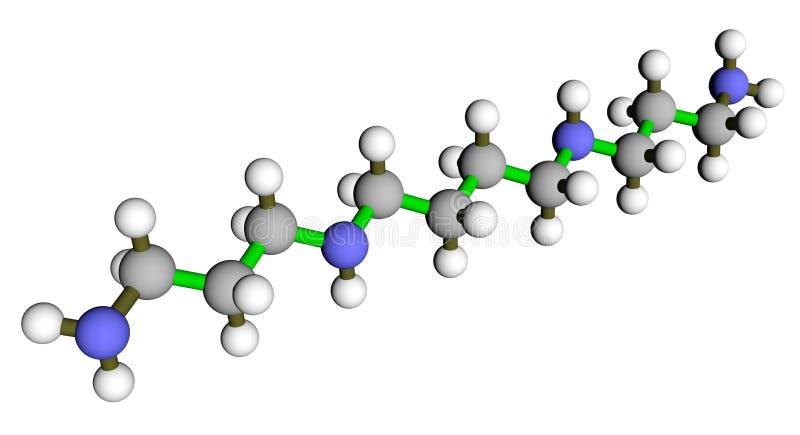 Structure moléculaire de spermine illustration stock