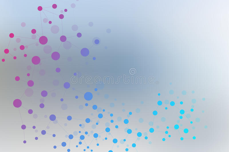 Structure molecule and communication. Dna, atom, neurons. Scientific concept for your design. Connected lines with dots. Medical, technology, chemistry vector illustration