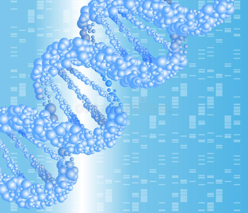 Structure molecule and communication. Dna. stock illustration