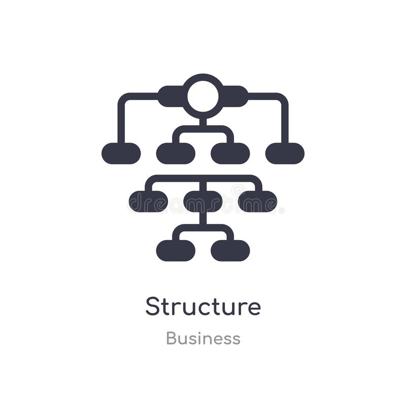 structure outline icon. isolated line vector illustration from business collection. editable thin stroke structure icon on white royalty free illustration