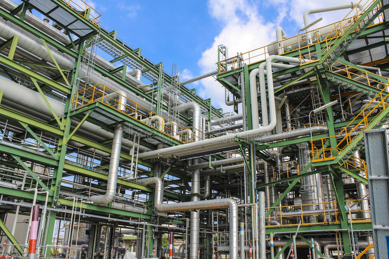 Structure Of Process Plant Royalty Free Stock Photo