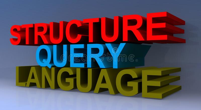 Structure query language vector illustration