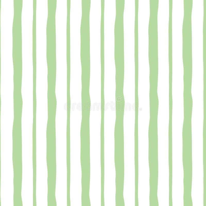 Structure rayée mignonne verte en pastel verticale abstraite Fond sans joint de vecteur illustration stock