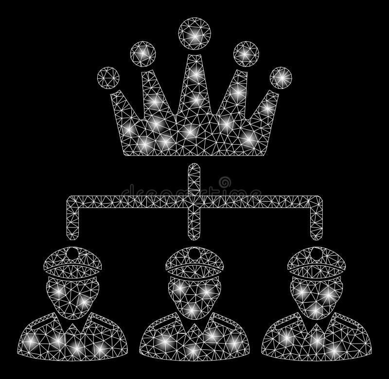 Structure rougeoyante de monarchie de maille 2D avec les taches lumineuses illustration libre de droits
