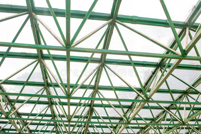Structure/skeleton of a greenhouse roof royalty free stock photos